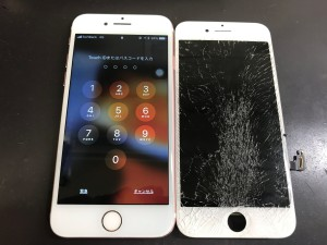 iPhone7のタッチ操作不可修理