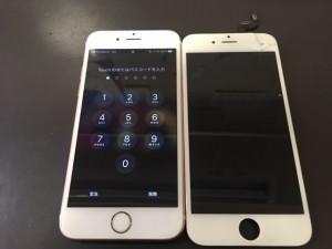 iPhone6Sの液晶表示不良