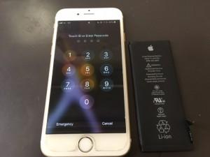 iPhone6のバッテリー交換修理