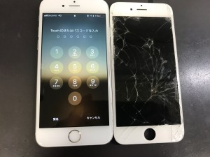 iPhone6 画面ひび割れ修理