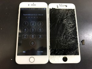 iPhone7 液晶破損修理