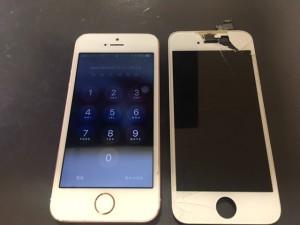 iphone5s,画面割れ,修理