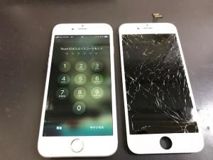 iPhone6 液晶表示不良