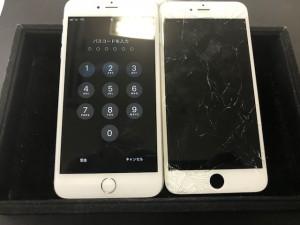 iPhone6 ひび割れ修理