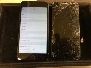 iPhone7 パネル割れ