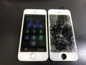 iPhoneSE 液晶重度破損