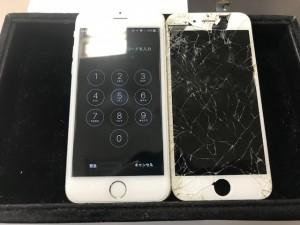 iPhone6 画面破損修理