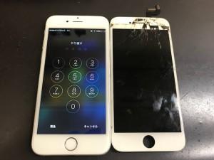 iphone6s パネル破損