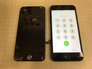iPhone7画面打痕