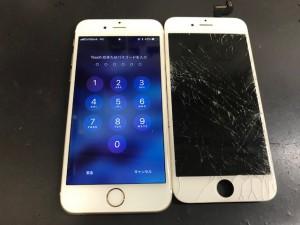 iPhoneガラス破損