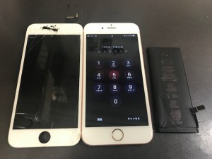 iPhone画面+電池