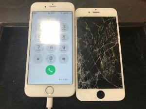 IiPhoneガラス破損