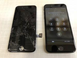 iPhone7 重度破損交換