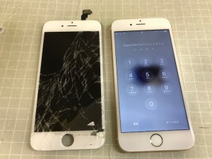 iPhone6 重度破損