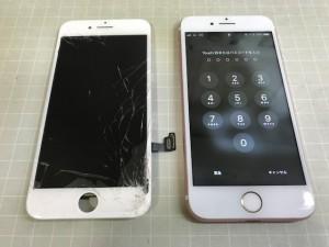 iPhone7 液晶破損