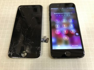 iPhone7 ガラス故障