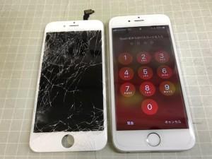 iPhone6 ガラス重度
