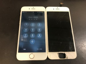iPhone6 ガラス割れ