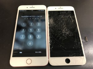 iPhone7+ 画面割れ
