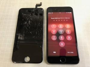 iPhone6S 重度割れ