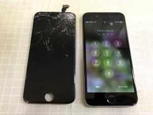 iPhone6+ 重度割れ
