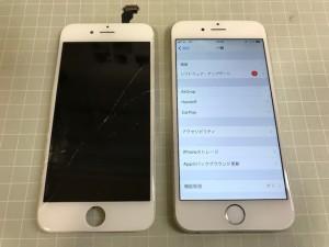 iPhone6 画面亀裂