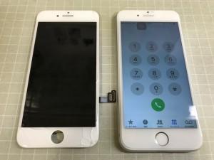 iPhone8 ひび割れ故障