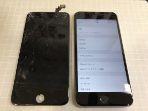 iPhone6+ 液晶表示不能