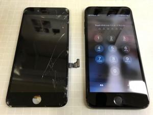 iPhone7 ガラス破損 191020