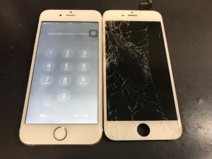 iPhone6s 画面破損修理