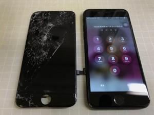 iPhone7+ 重度割れ