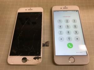iPhone8 パネル欠け