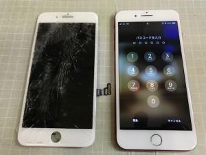 IPHONE7+ ガラス破損