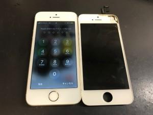 iPhone5S 画面割れ