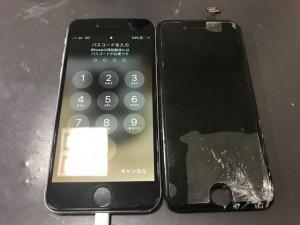 アイフォン6 ガラス割れ