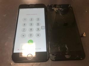 アイフォン7+ ガラス修理