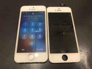 iphoneSE ガラス破損