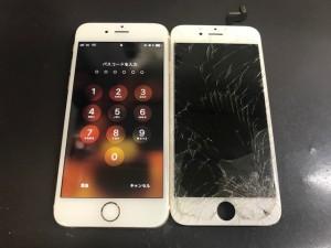 iphone6S 画面ひび割れ