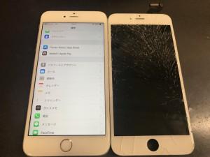 iPhone6S ヒビ割れ