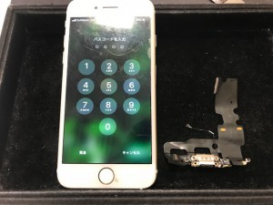 iPhone7 ドックコネクタ交換
