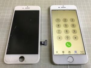 iPhone8 画面ひび割れ 191203