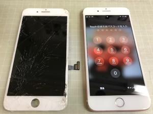 iPhone8+ 液晶破損 191116