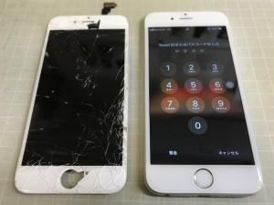 iphone6 液晶破損 191030