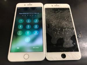 iPhone8+ ヒビ  191130
