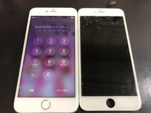 iPhone6+ 画面ひび割れ 191127