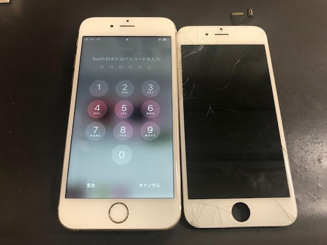 iphone6S 割れ 191010