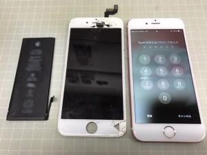 iphone6S 画面と電池取り換え