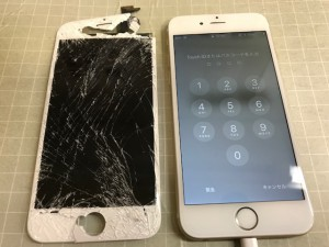 200107 Iphone6 パネル破損