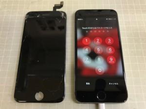 アイフォン6S 画面重度割れ