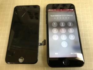 Iphone7 ガラスわれ